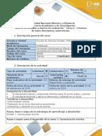 Guía de actividades y rúbrica de evaluación - Tarea 2 - Creación de texto descriptivo, autorretrato (1).docx