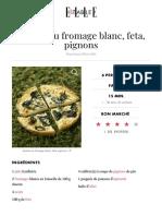 Quiche Au Fromage Blanc, Feta, Pignons