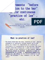 01. Requirements for Practice of Law