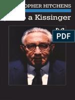 Hitchens Christopher - Juicio a Kissinger