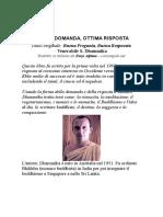 Buona Domanda, Ottima Risposta - Venerabile s. Dhammika