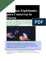 10 Armas Espirituales Para Conservar La Pureza