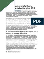 Cómo Transformará La Cuarta Revolución Industrial a Las ONG
