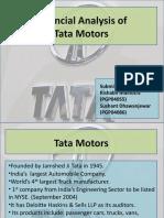 Financial Analysis of Tata Motors - FSA Presentation Final