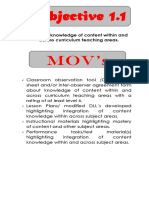 Objectives and Movs