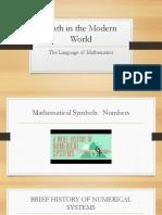 MATH10 Language of Mathematics Intersession2019