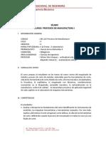 MC215 - Procesos de Manufactura I-silabo