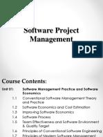 Unit 01 Software Management Practice & Software Economics