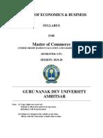 Mcom Semeser i to IV Cbegs 2019-20