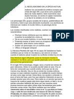 El Realismo en La Época Actual Esnayo Español 9 3p