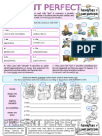 Present Perfect With Alreadyjustyet Grammar Drills Grammar Guides Information Gap Acti 90552