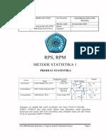 RPS Dan RPM Metode Statistika 1