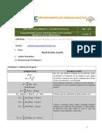 Integración por Gauss Legendre