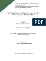 Aspectos Biologicos y Ecologicos de La Almeja Negra Chione Fluctifraga