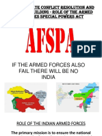 INTRA STATE CONFLICT RESOLUTION AND PEACE  BUILDING INDIAN CONTEXT - ROLE OF THE ARMED FORCES SPECIAL POWERS ACT