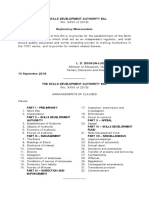 Skills Development Authority Bill