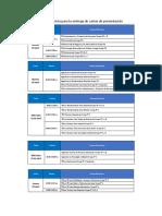 Programación Para La Entrega de Carta de Presentación