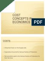 47390989 Cost Concepts in Economics