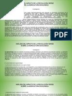 Actividad Analisis Del Impacto de La Revolucion Verde Sobre La Agricultura Ecologica