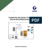 Instalación Del Equipo Terminal FAU de ECI (Planta Exterior)