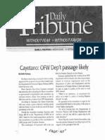 Daily Tribune, Sept. 18, 2019, Cayetano OFW Dept passage likely.pdf