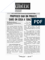 Philippine Daily Inquirer, Sept. 18, 2019, Proposed ban on private cars on EDSA a crazy idea.pdf