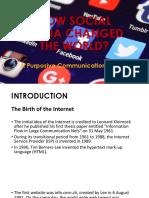 Purposive Communication Social Media