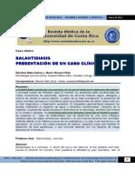 Balantiasis, presentación de caso