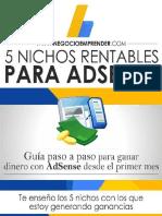 5 nichos rentables para adsense