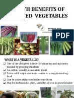 Module I Health Benefits and Garden Models