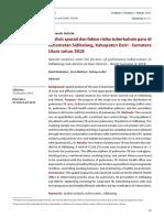 Analisis spasial dan faktor risiko tuberkulosis paru di Kecamatan Sidikalang, Kabupaten Dairi - Sumatera Utara tahun 2018
