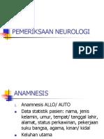 PEMERIKSAAN FISIK NEUROLOGI