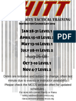 Instructor Course List 2019