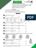 Subiect Comper Matematica EtapaI 2017 2018 ClasaII
