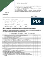 Survey Questionnaire Depression_senior High