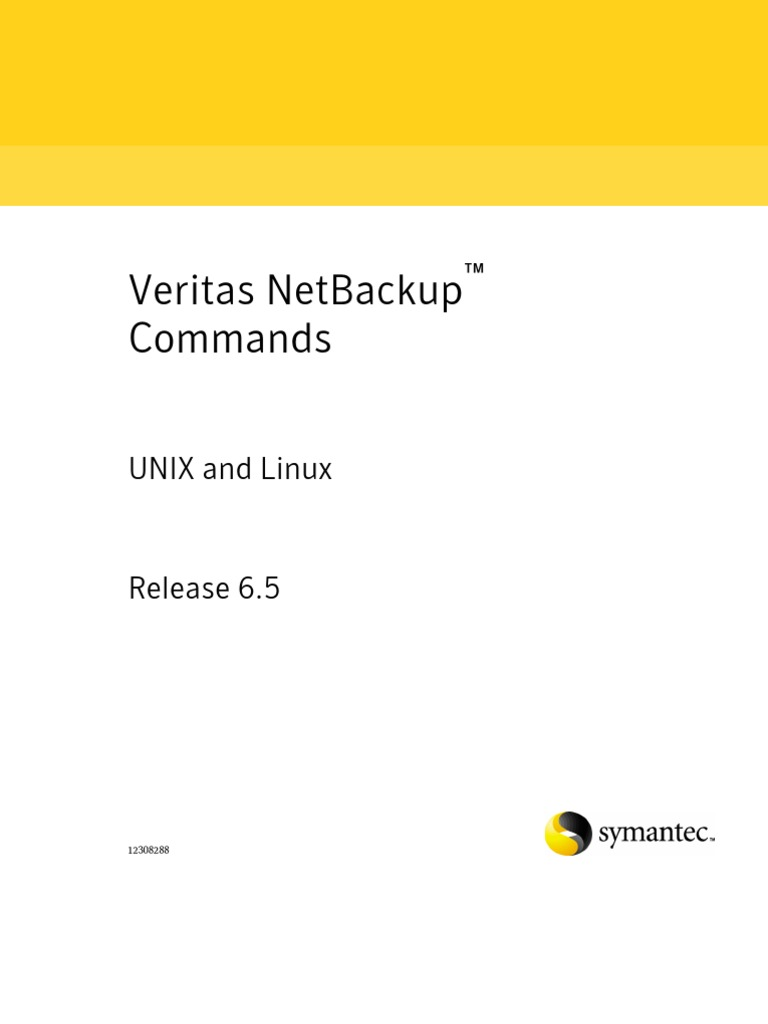 Netbackup Commands For Unix And Linux Command Line Interface