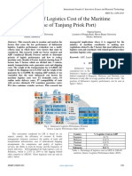Analysis of Logistics Cost of the Maritime  (Case of Tanjung Priok Port)