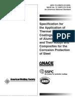 AWS C2.23 - NACE 12 - TSC standard - 2003