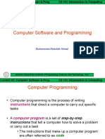 ITC Lect 05 [Computer Software and Programming]