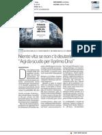 Il deuterio e la nascita della vita sulla Terra -  La Stampa, 18 settembre 2019