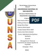Monografía de Planta de Tratamiento de Residuos Líquidos de Hospitales