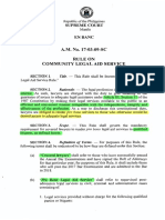 Community Legal Aid Service Rule (SC a.M. No. 17-03-09-SC)