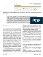 A Generic Workflow for Bioprocess Analytical Data Screening Alignment Techniques and Analyzing Their Effects on Multivariate Model 2161 1009 1000373