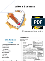 how to write bussiness letter