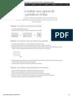 Cómo realizar una captura de pantalla en el Mac - Soporte técnico de Apple