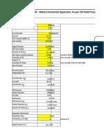Vessel Sizing Spreadsheet