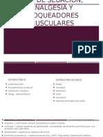 Uso de Sedación, Analgesia y Bloqueadores Musculares