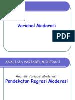 Analisis Moderasi