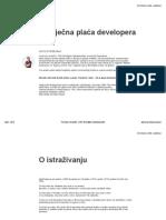 Tomislav Grubisic - Analiza Plaća Developera Programera 2019
