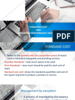 Standard Cost and Operating Performance Measures Final